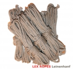 LEX ROPES Leinenhanf Set 8 St x 8m x 6mm