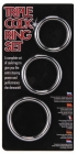 Triple Cock Ring Steel Set 38-45-50mm